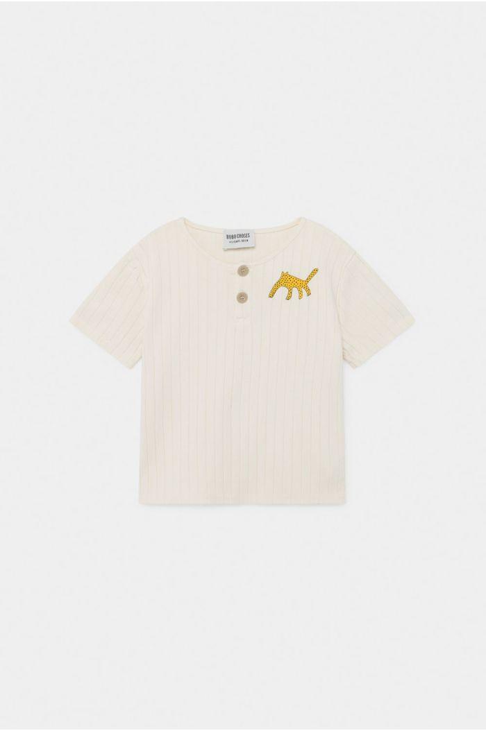 Bobo Choses Leopard Buttoned T-Shirt Turtledove