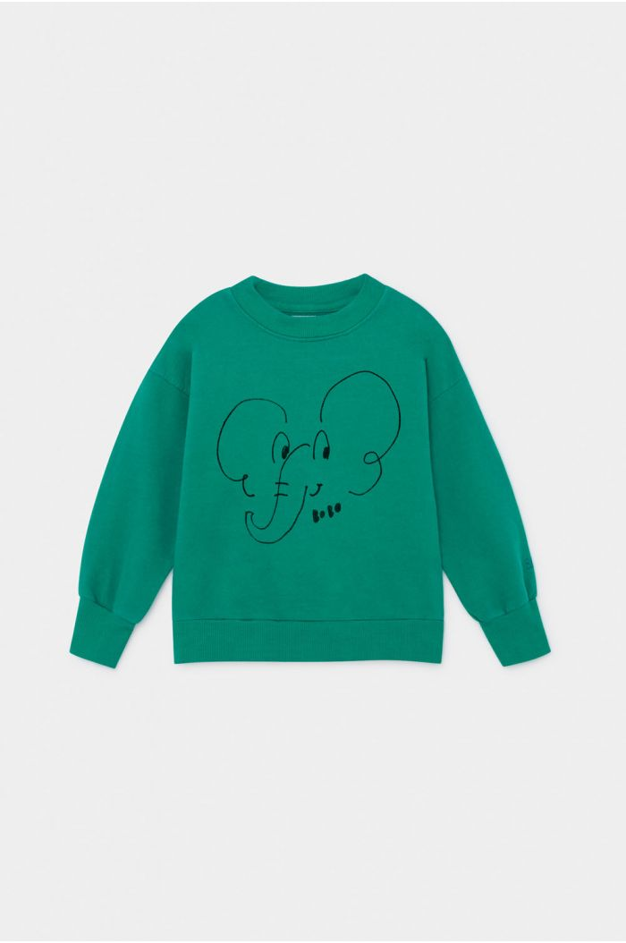Bobo Choses Elephant Sweatshirt Cadmium Green