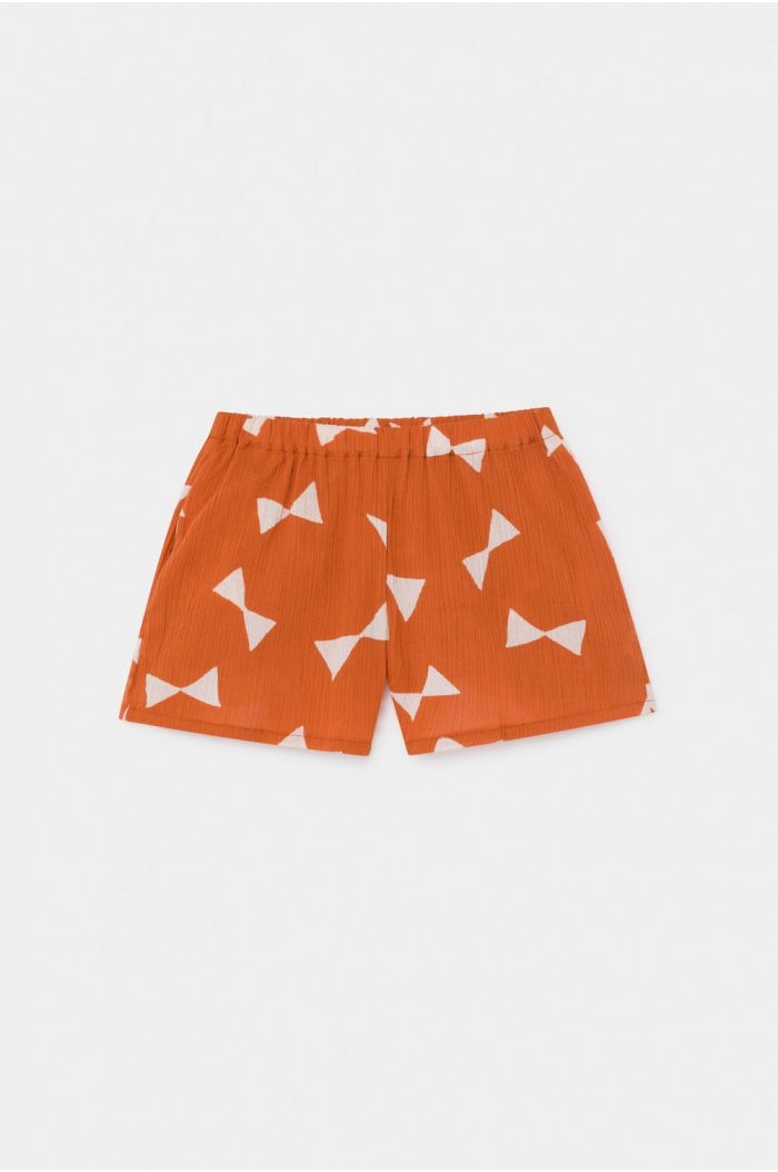 Bobo Choses All Over Bow Woven Shorts Celosia Orange