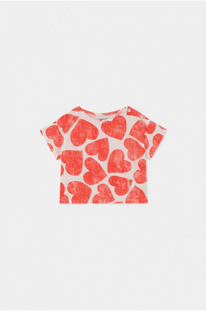 Bobo Choses All Over Hearts Blouse Turtledove