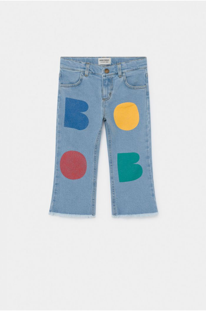 Bobo Choses Multicolor Bobo Flared Denim Pants Blue Fog