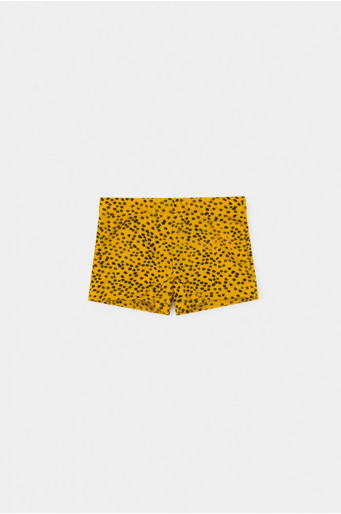 Bobo Choses All Over Leopard Print Swim Boxer Spectra Yellow
