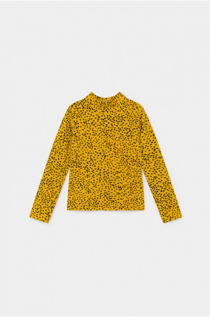 Bobo Choses All Over Leopard Print Swim Top Spectra Yellow