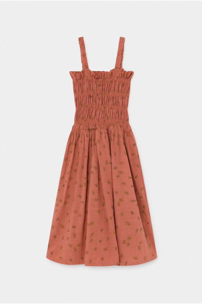 Bobo Choses All Over Daisy Smoked Dress Autumn Leaf