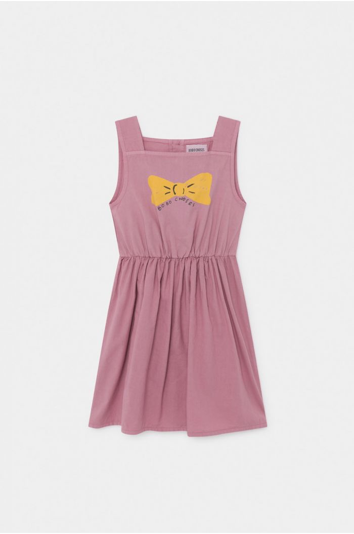 Bobo Choses Bow Woven Dress Heather Rose
