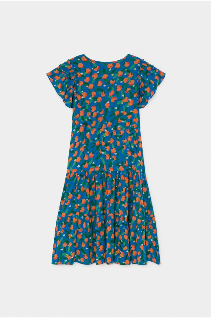 Bobo Choses All Over Oranges Flamenco Dress Azure Blue