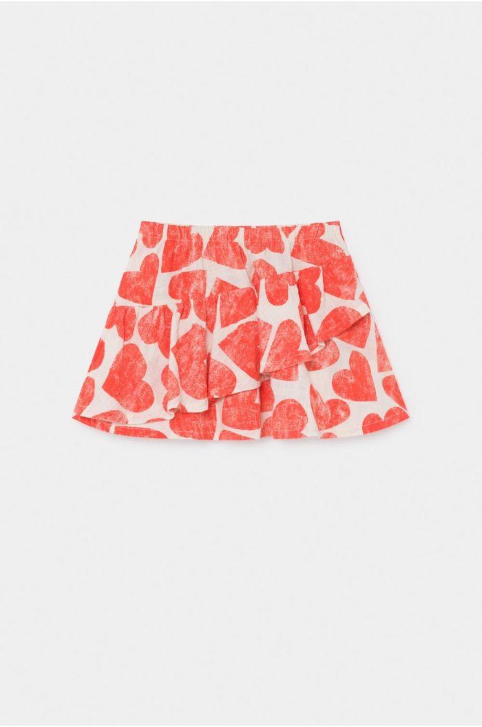 Bobo Choses All Over  Hearts Ruffles Skirt Turtledove