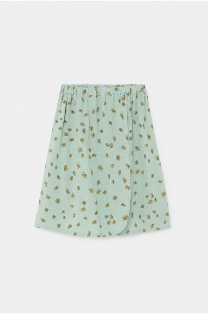 Bobo Choses All Over Daisy Wrap Midi Skirt Frosty Green