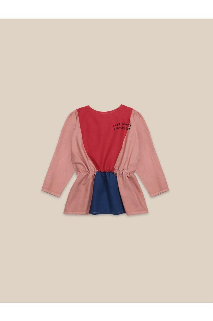Bobo Choses Triangles Girl Shirt Rose Tan_1