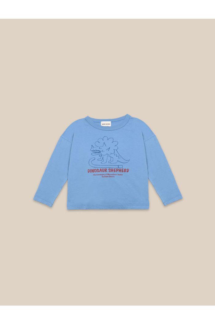 Bobo Choses Dino Long Sleeve T-shirt Forever Blue_1