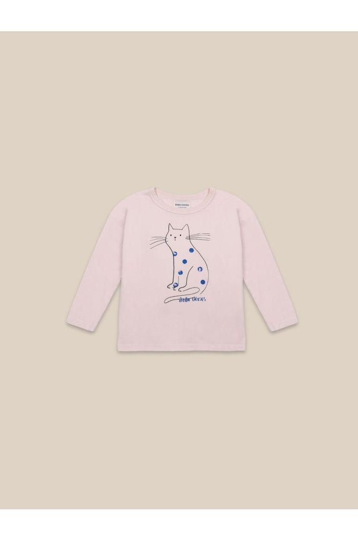 Bobo Choses Cat Long Sleeve T-shirt Cream Tan_1