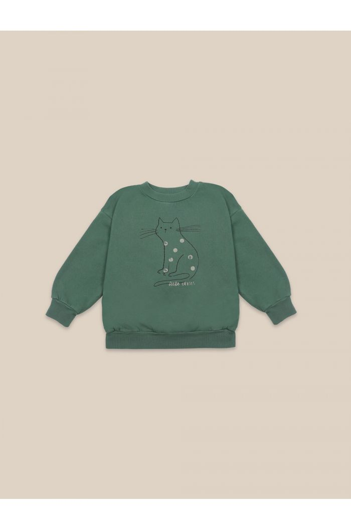 Bobo Choses Cat Sweatshirt Greener Pastures_1