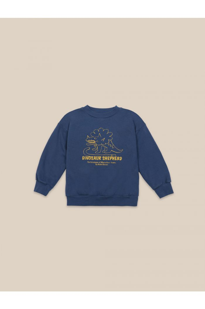 Bobo Choses Dino Sweatshirt Blue Indigo_1