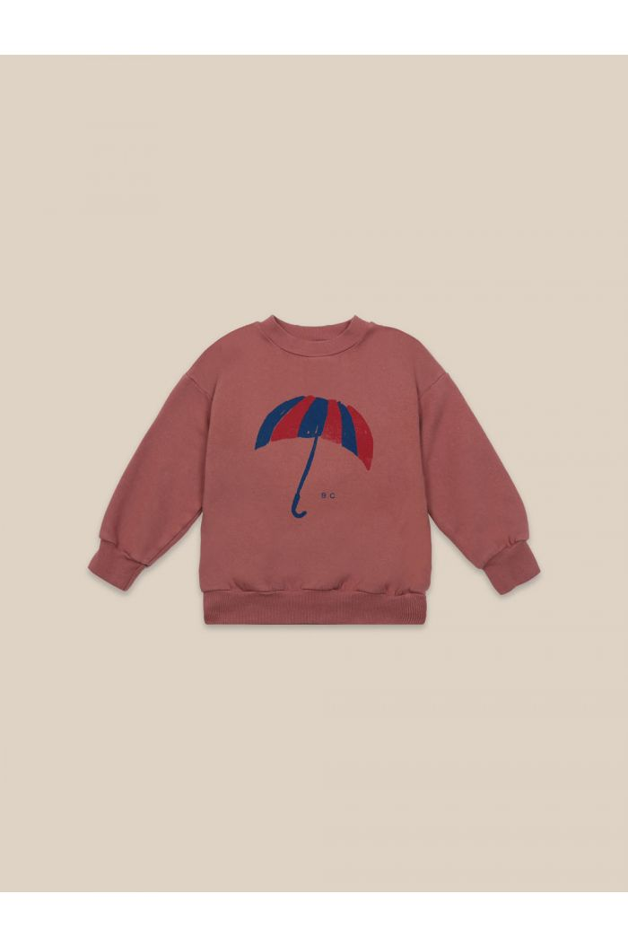 Bobo Choses Umbrella Sweatshirt Mahogany_1