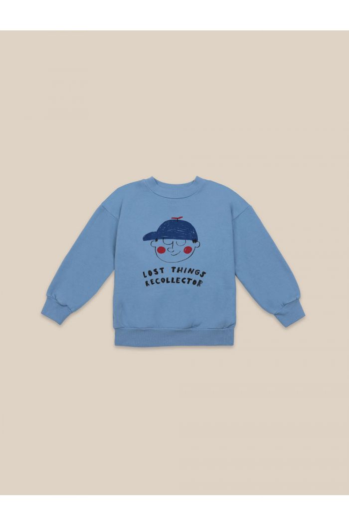 Bobo Choses Boy Sweatshirt Forever Blue_1