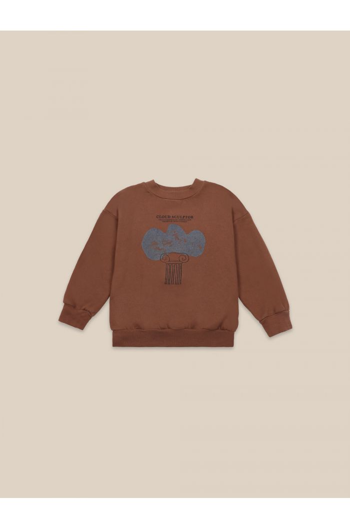 Bobo Choses Cloud Sculptor Sweatshirt Caramel Cafe_1