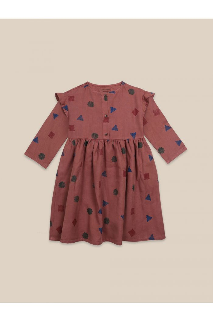 Bobo Choses Excuse All Over Dress Mahogany_1