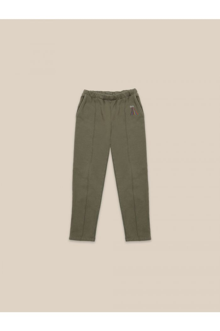 Bobo Choses Multicolor Stripes Embroidery Pants Olive Branch_1