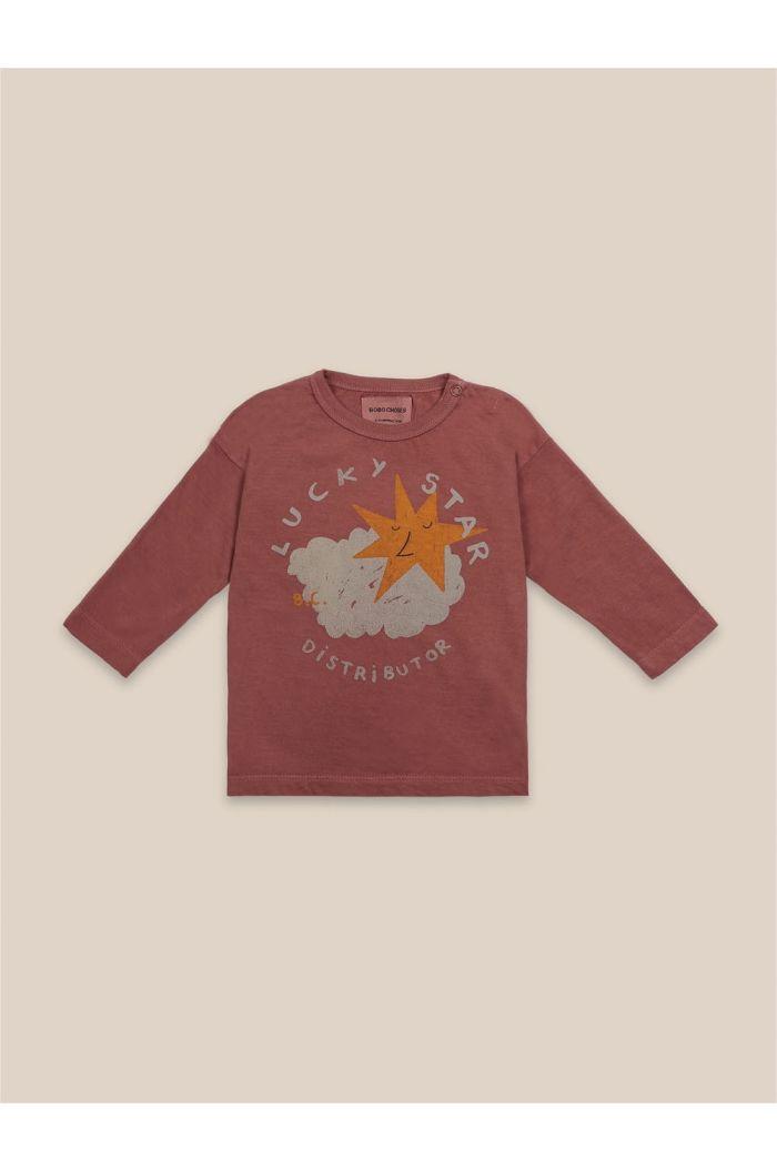 Bobo Choses Lucky Star Long Sleeve T-Shirt Mahogany_1
