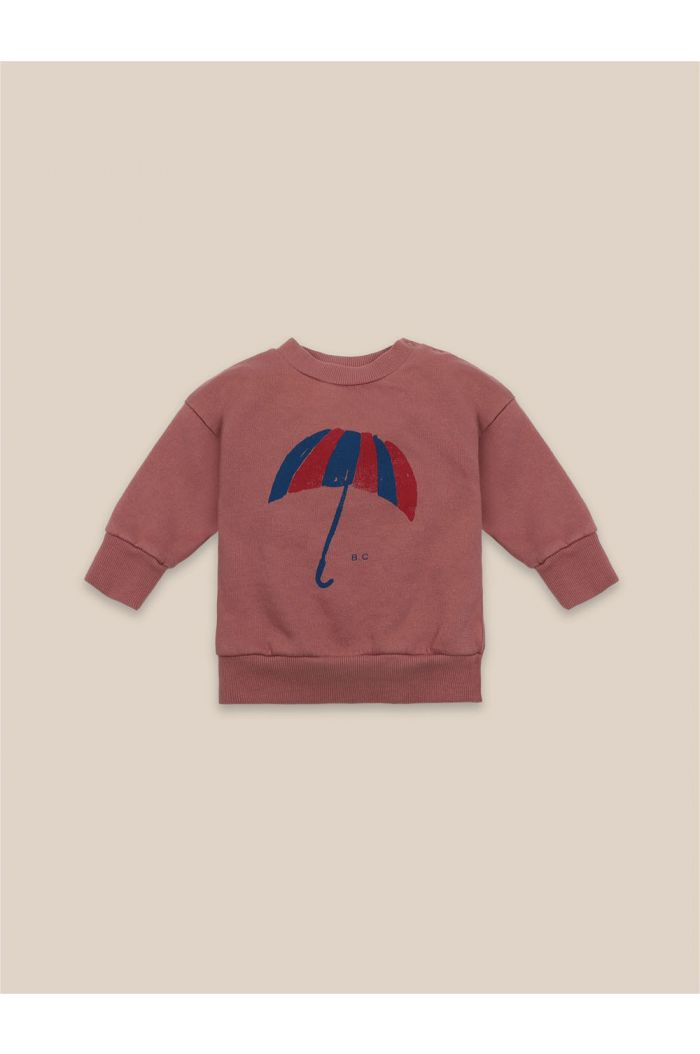 Bobo Choses Baby Umbrella Sweatshirt Mahogany_1