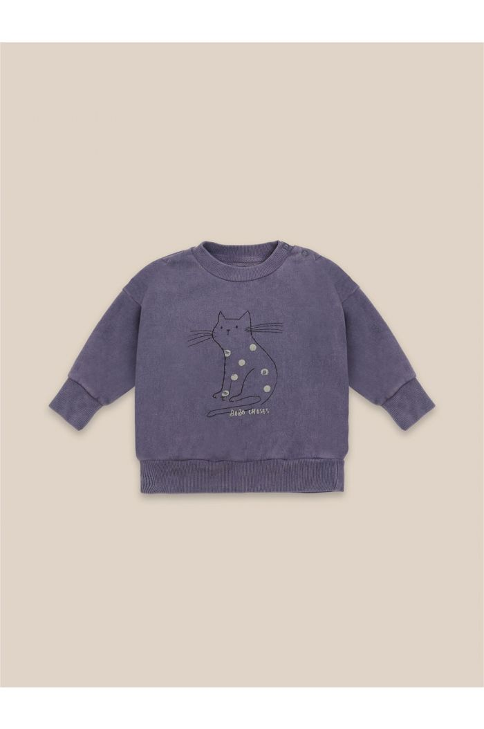Bobo Choses Cat Sweatshirt Grape Compote_1
