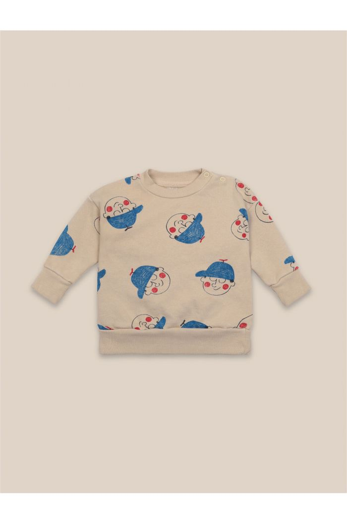 Bobo Choses Baby Boy All Over Sweatshirt Brown Rice_1