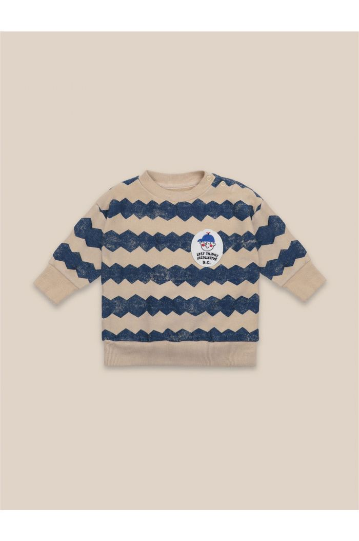 Bobo Choses Baby Columns Sweatshirt Brown Rice_1