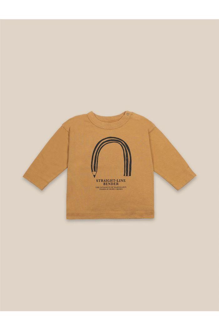 Bobo Choses Baby Straight Line Bender Longsleeve Sunflower_1
