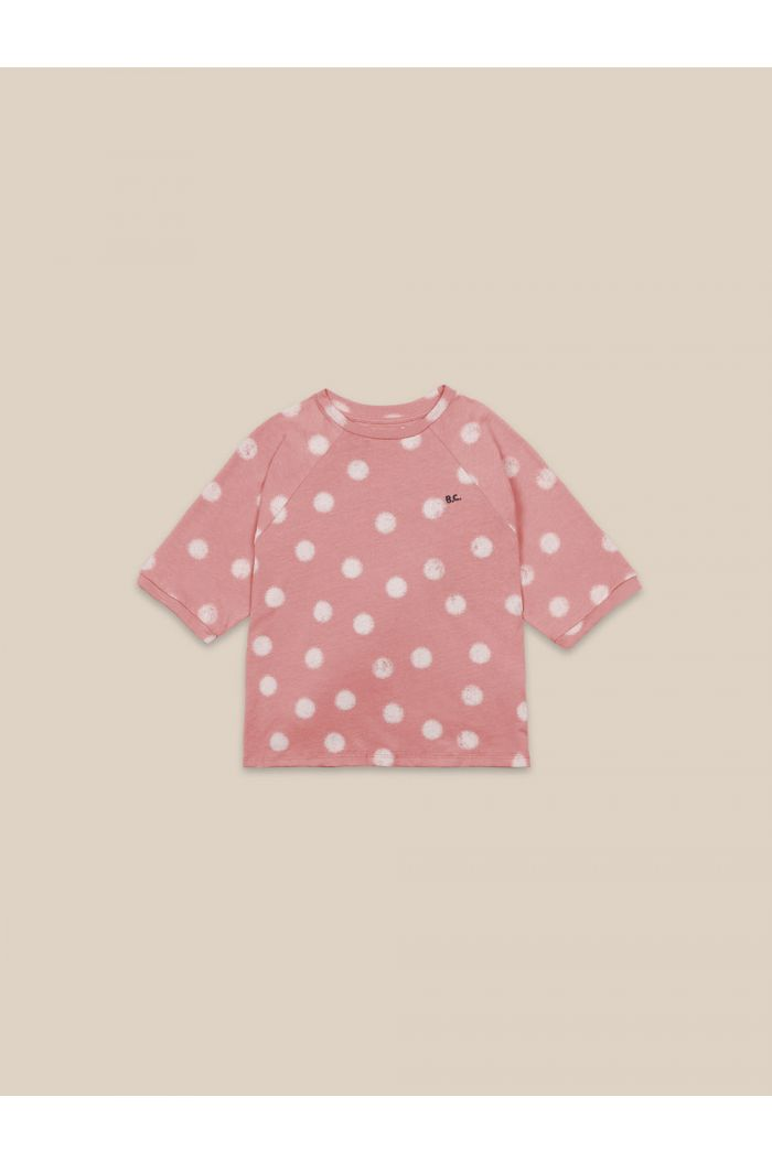 Bobo Choses Spray Dots T-shirt Rose Tan_1