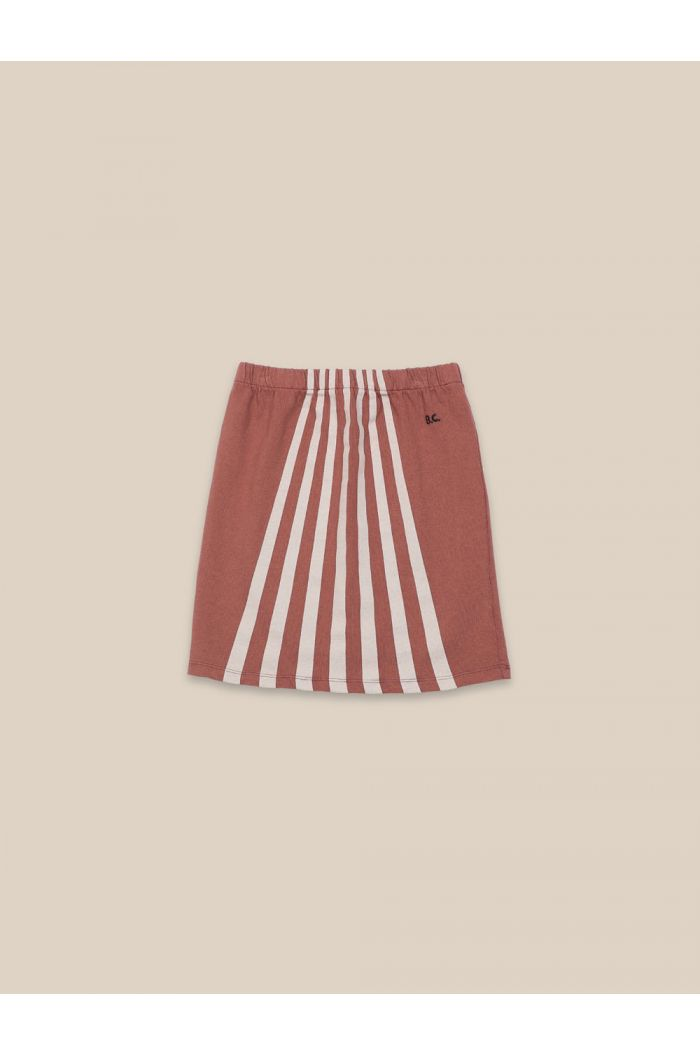 Bobo Choses Stripes Skirt Mahogany_1