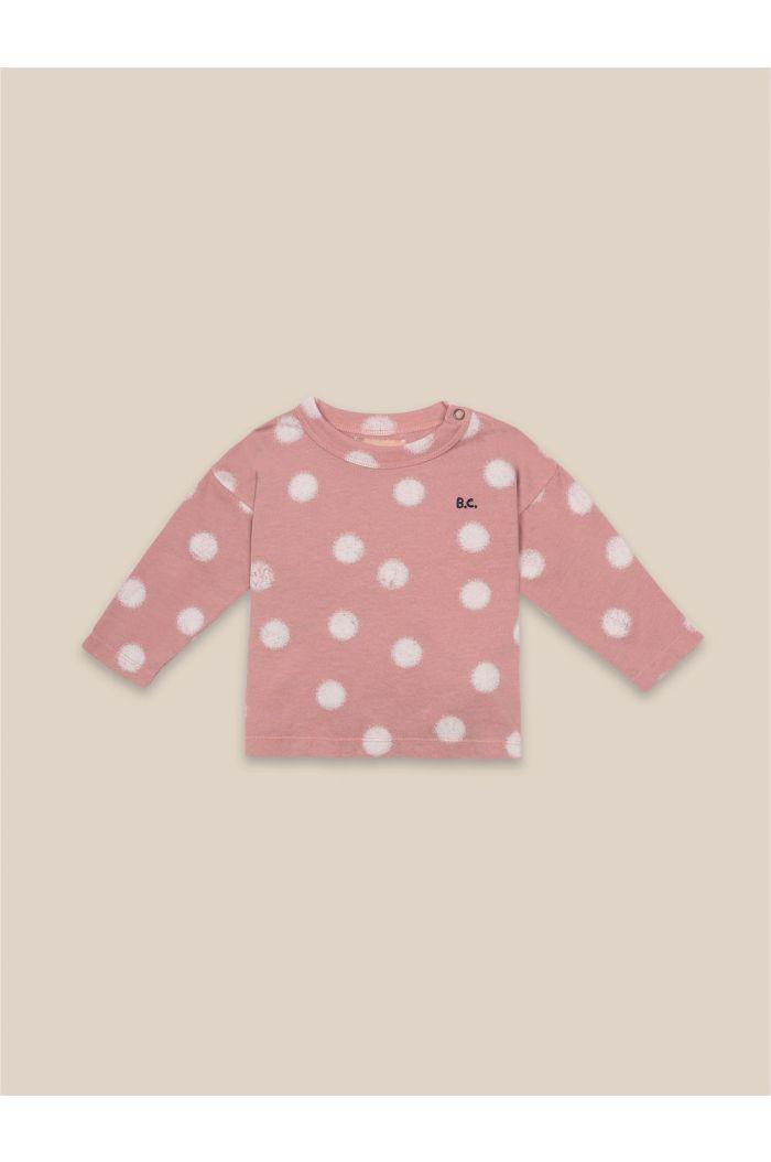 Bobo Choses Spray Dots Long Sleeve T-Shirt Rose Tan_1