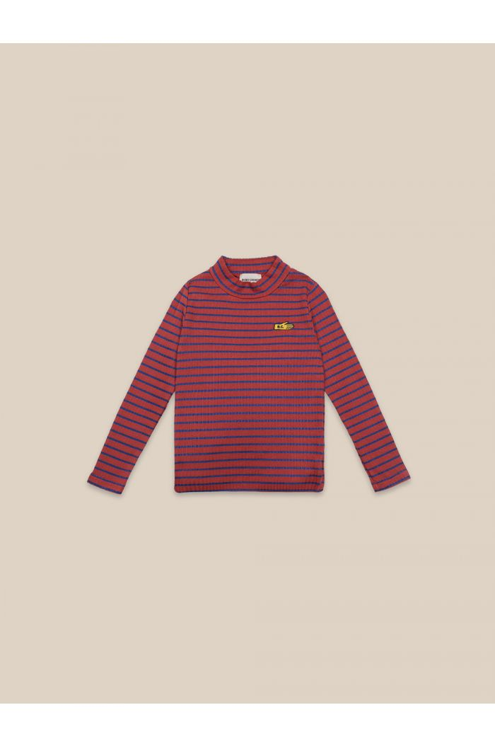 Bobo Choses Striped Turtle Neck T-shirt Ketchup_1