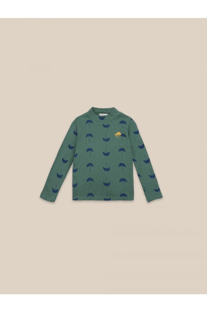 Bobo Choses Umbrella All Over Turtle Neck T-shirt Greener Pastures_1
