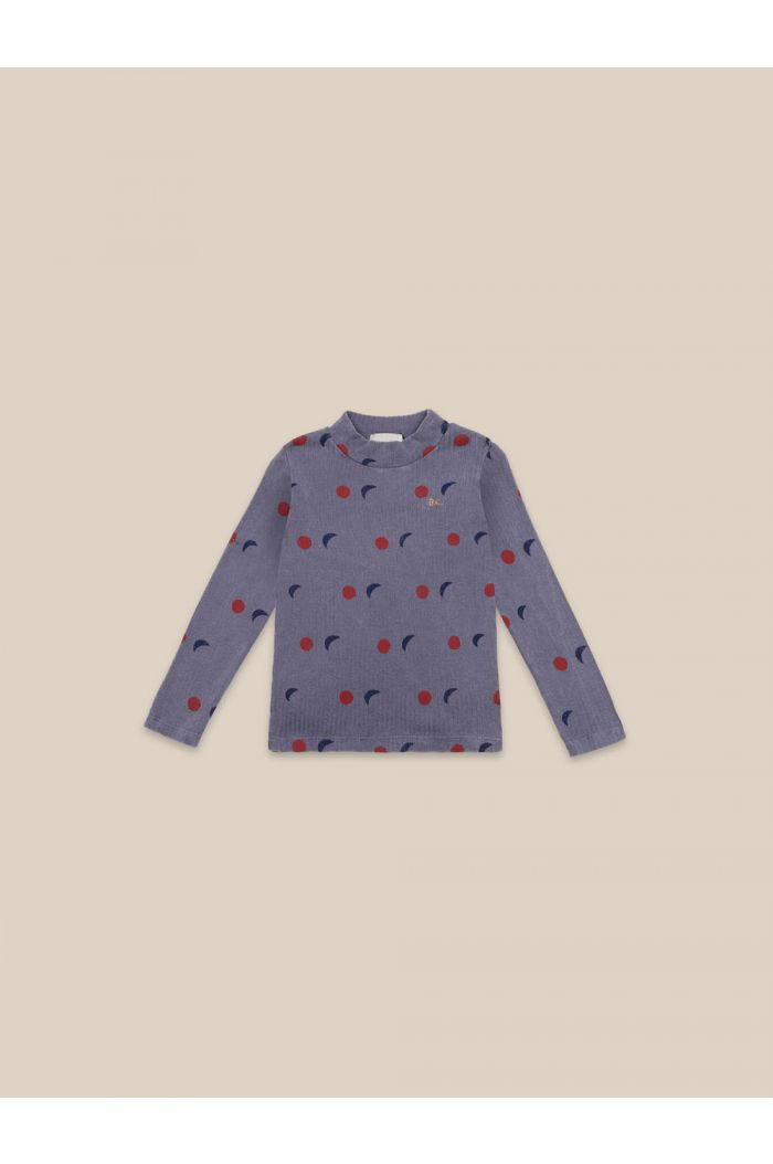 Bobo Choses Night All Over Turtle Neck T-shirt Grape Compote_1