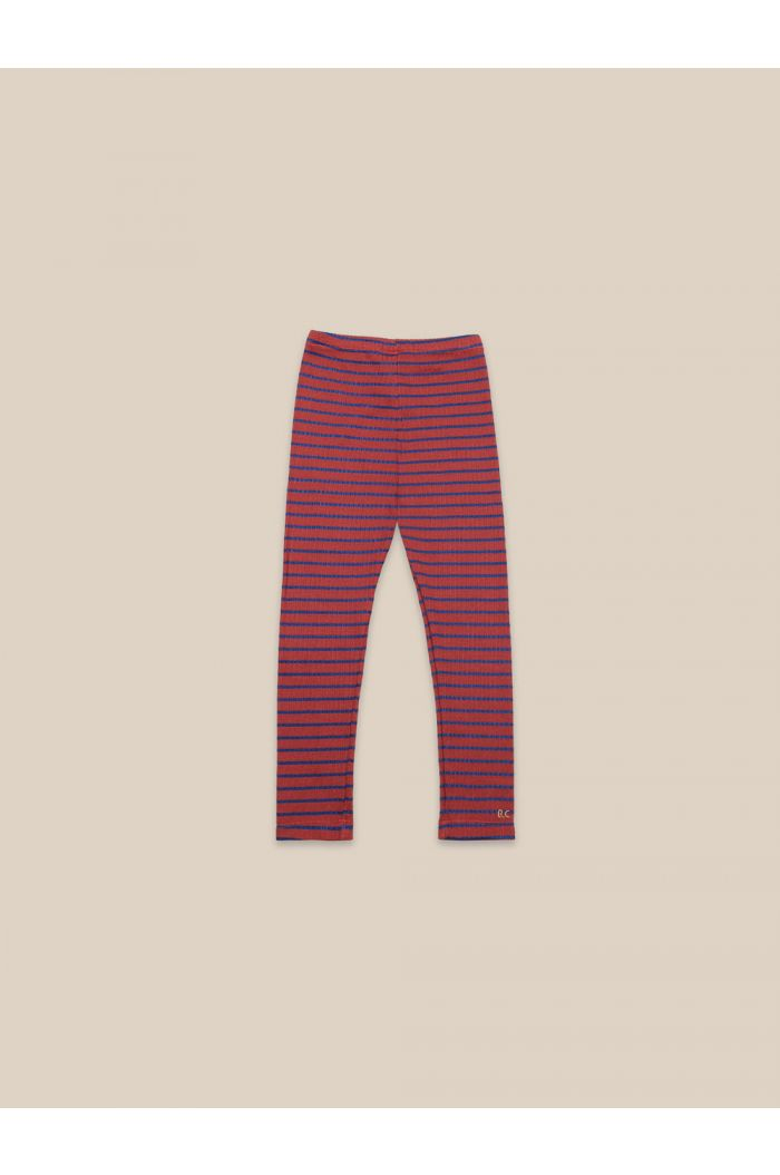 Bobo Choses Striped Leggings Ketchup_1