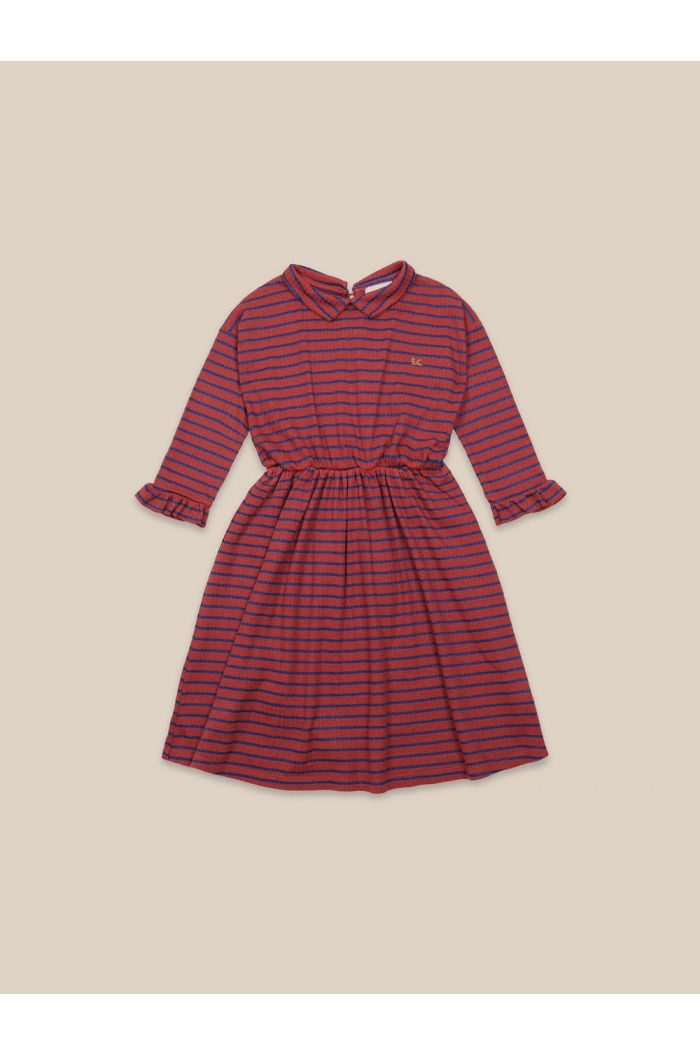 Bobo Choses Striped Dress Ketchup_1