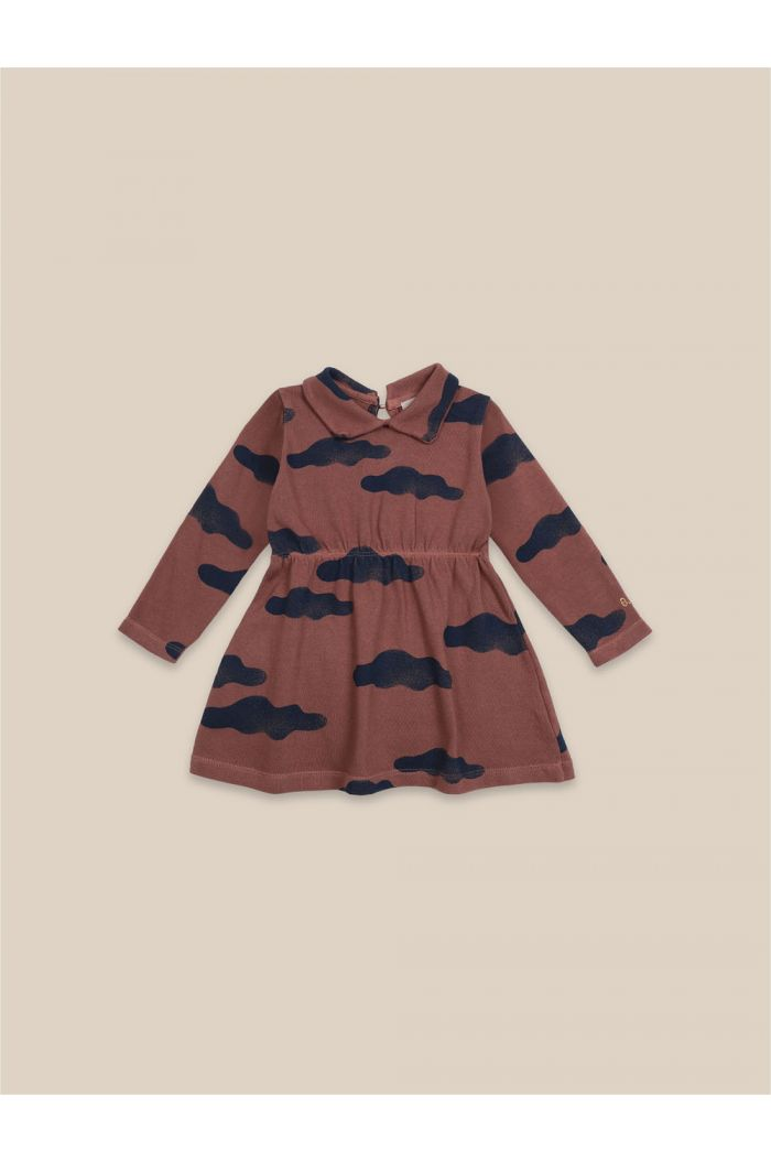 Bobo Choses Clouds All Over Dress Mahogany_1