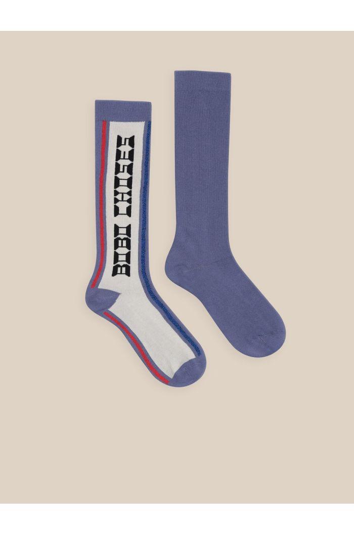 Bobo Choses Bobo Choses Long Socks Brown Rice_1