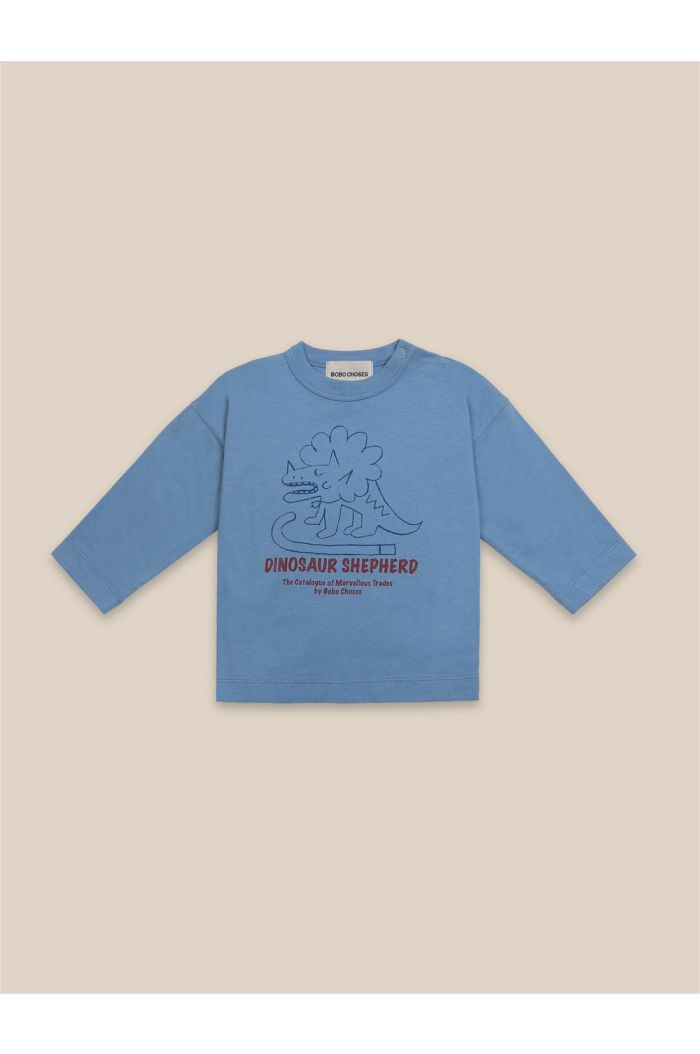 Bobo Choses Baby Dino Long Sleeve T-Shirt Forever Blue_1