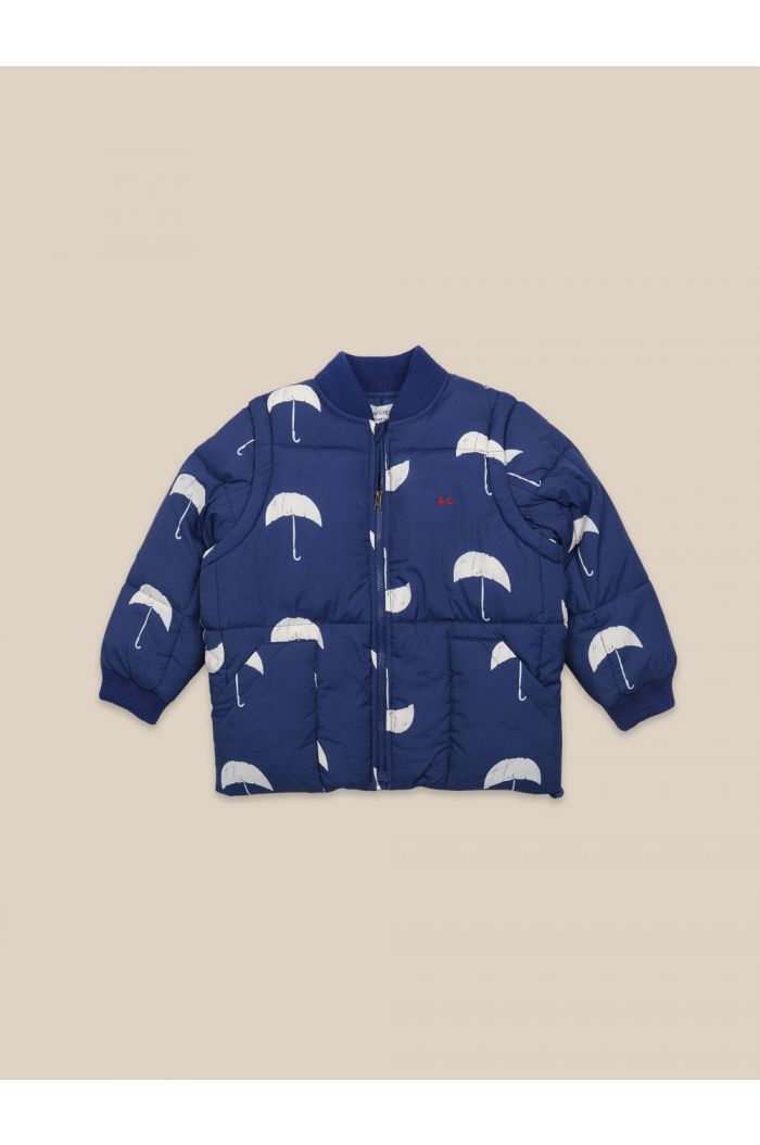 Bobo Choses Umbrella All Over Padded Jacket Forever Blue_1