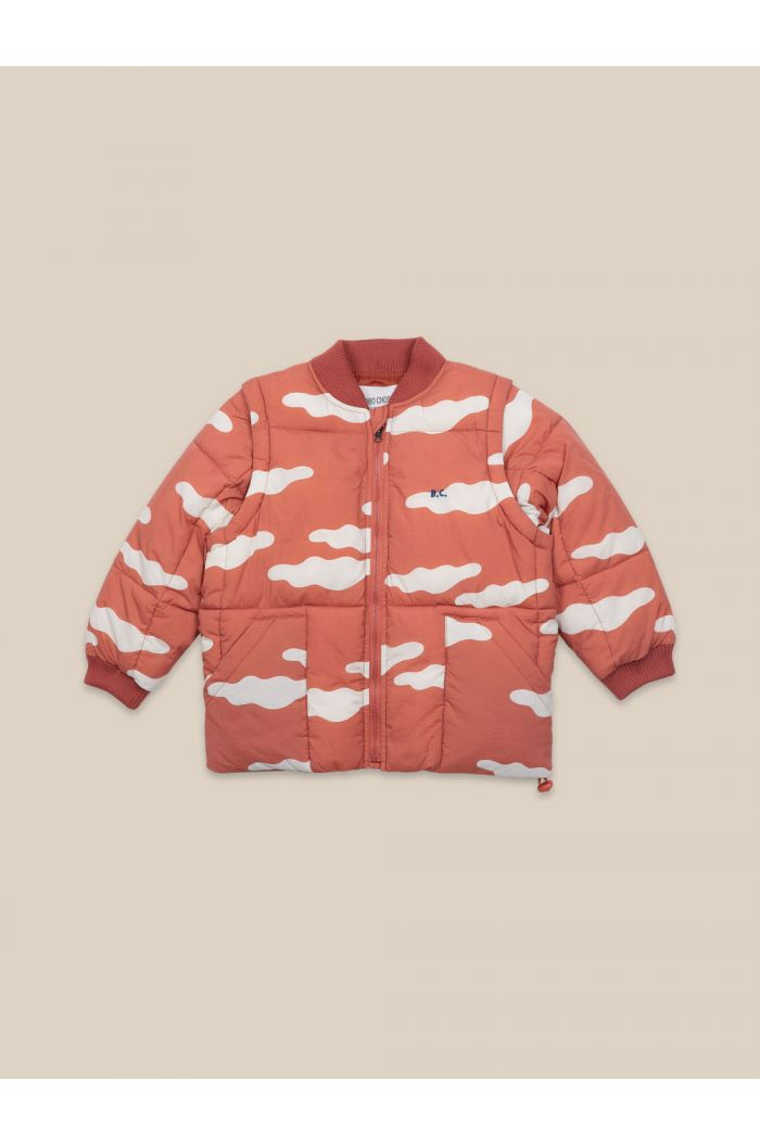 Bobo Choses Clouds All Over Padded Jacket Ketchup_1