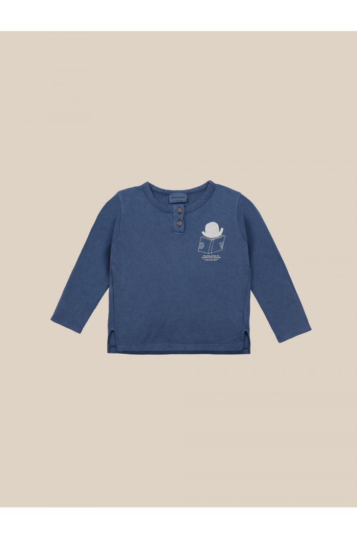 Bobo Choses Translator Buttoned T-shirt Blue Indigo_1