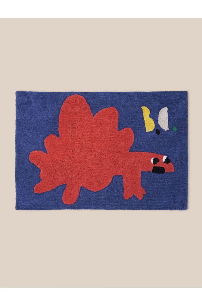 Bobo Choses Cotton Tuffted Red Dino Rug Electric blue_1