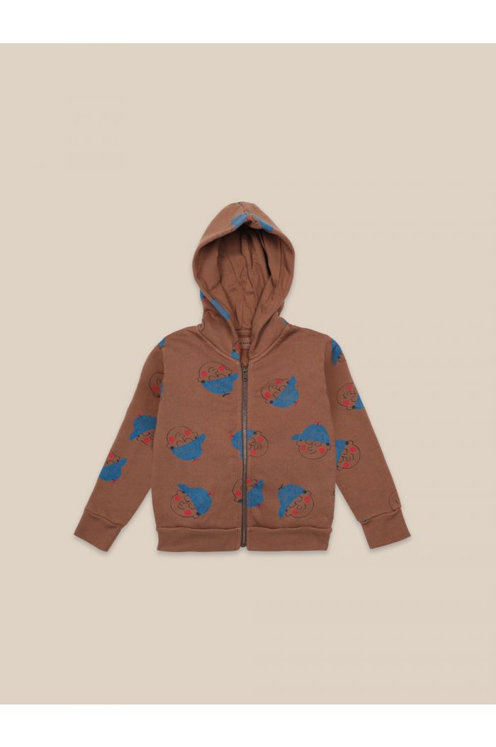 Bobo Choses Boy All Over Sweatshirt Caramel Cafe_1