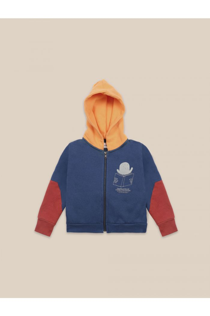 Bobo Choses Translator Zipped Hoodie Atlantic Deep_1