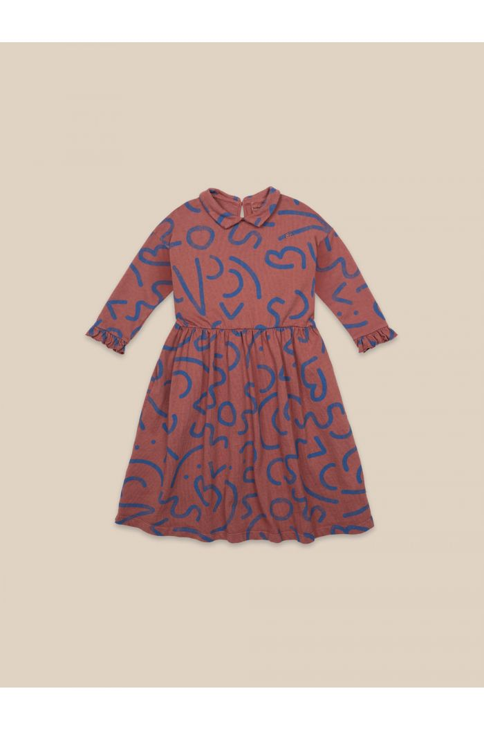 Bobo Choses Curved Lines All Over Dress Caramel Cafe_1