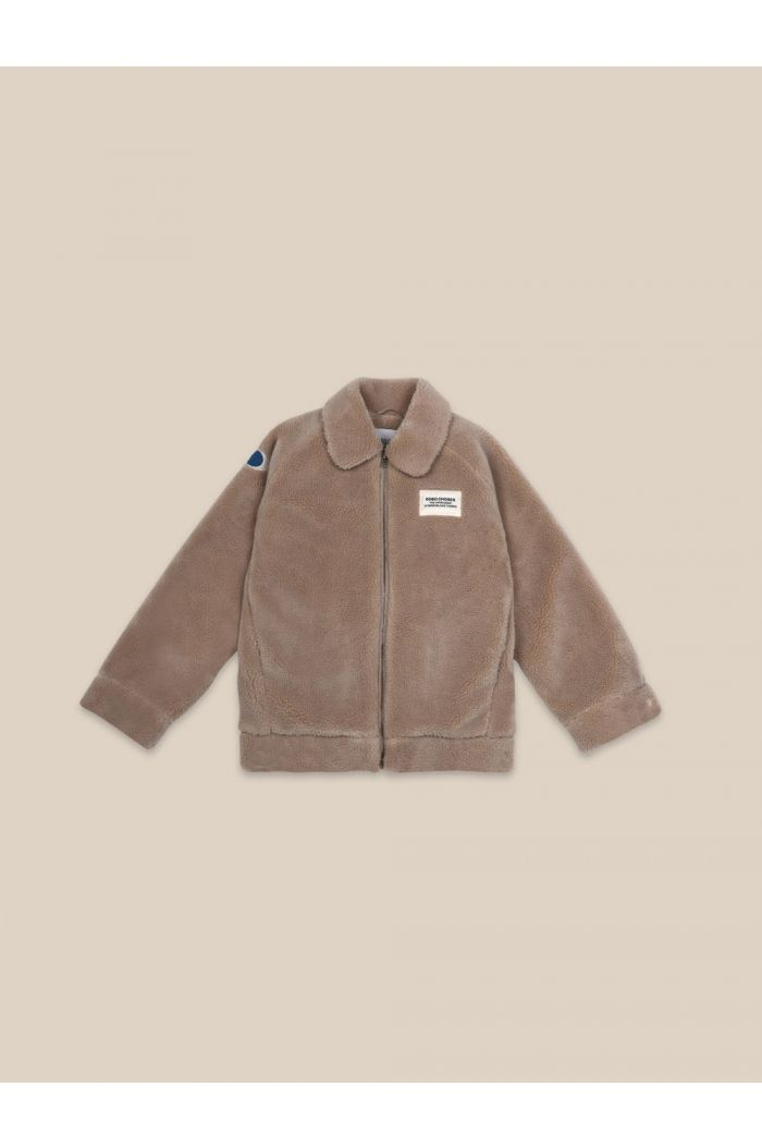 Bobo Choses Catalogue Of Marvelous Trades Bomber  Sheepskin Brown Rice_1