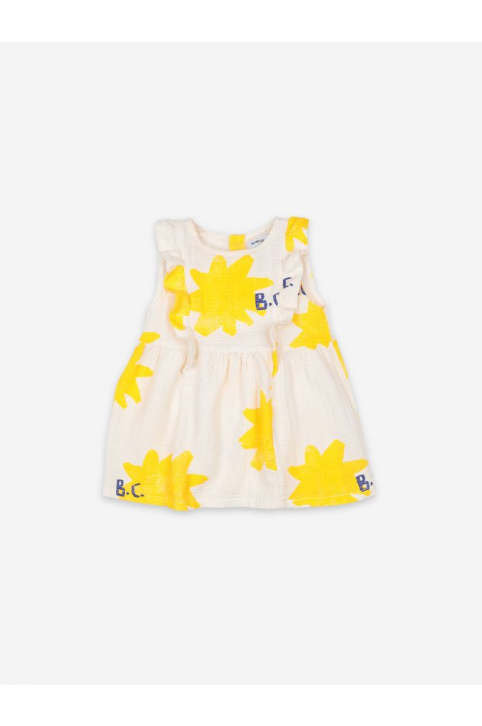 Bobo Choses Sparkle All Over Ruffle Dress Turtledove_1