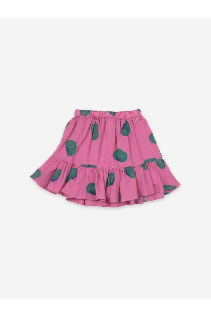 Bobo Choses Tomatoes All Over Ruffle Mini Skirt Dahlia Mauve_1