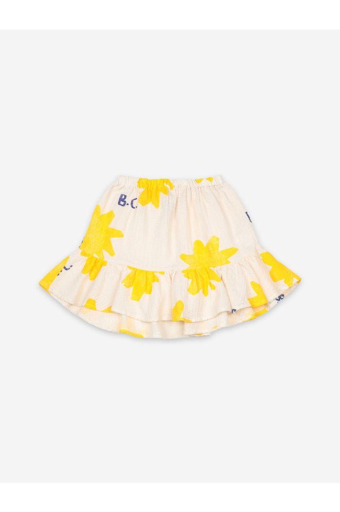 Bobo Choses Sparkle All Over Ruffle Mini Skirt Turtledove_1